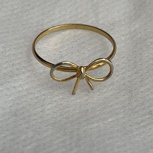 Bow 'midi' ring
